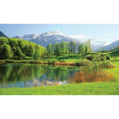 100 in. x 60 in. Window Well Scene - Lake