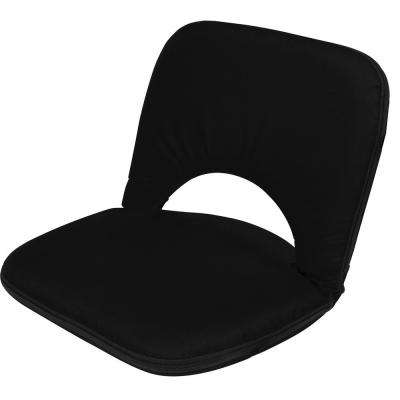 28.3 in. 5-Position Portable Multiuse Black Adjustable Stadium Seat