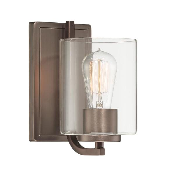 Liam 1-Light Satin Copper Bronze Wall Sconce