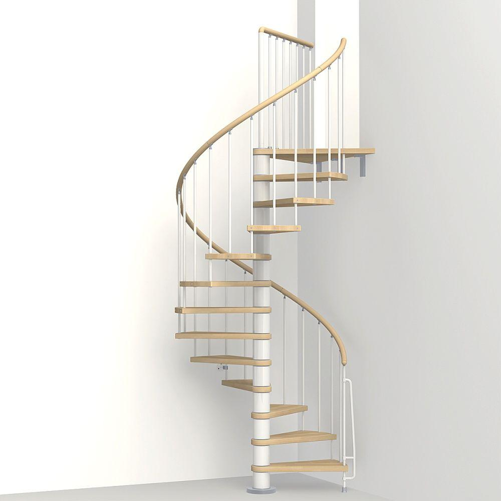Arke Phoenix 47 in  White Spiral Staircase Kit