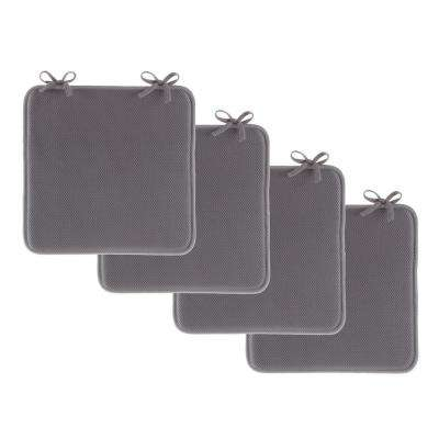 Dark Gray Foam Chair Pad (Set of 4)
