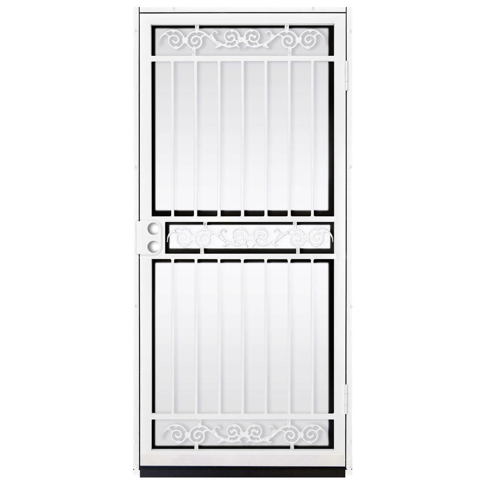 Unique home designs 36 in x 80 in sylvan white surface for Home depot steel doors with glass