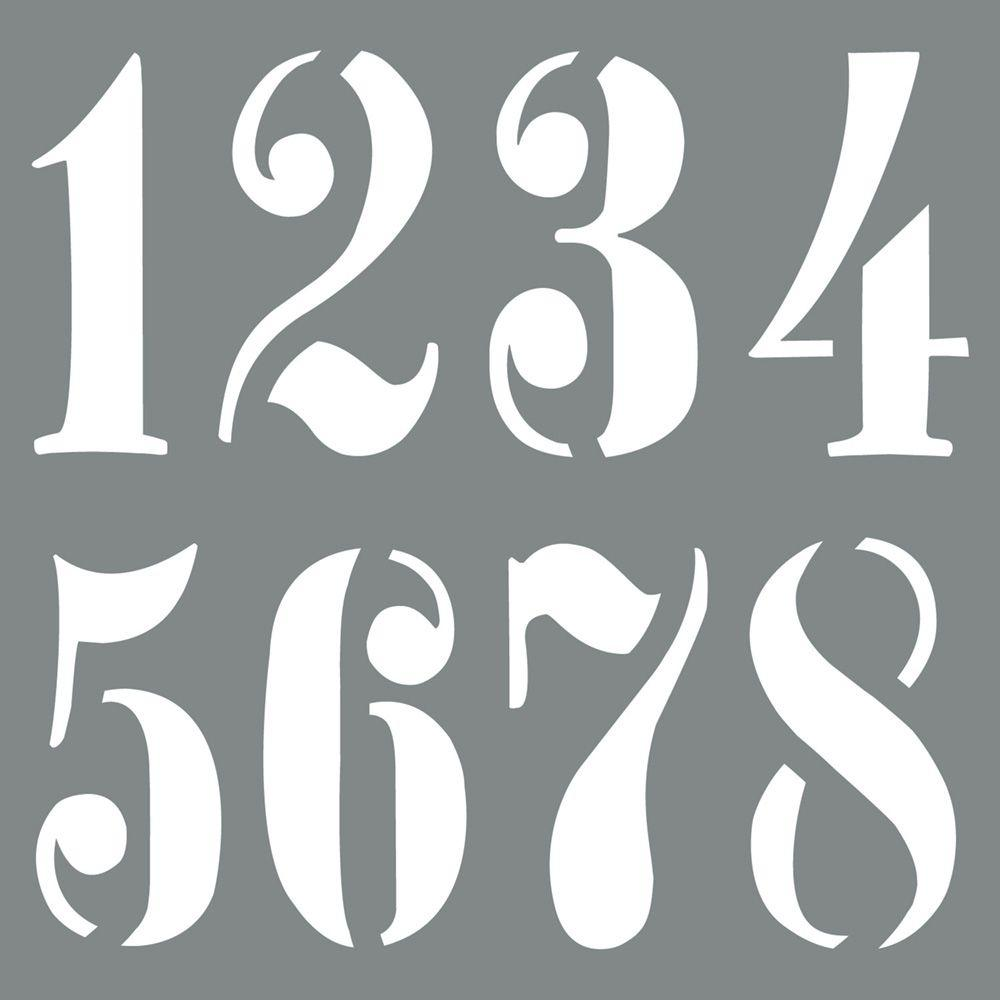 Americana Decor 10 in. x 10 in. Vintage Numbers Stencil