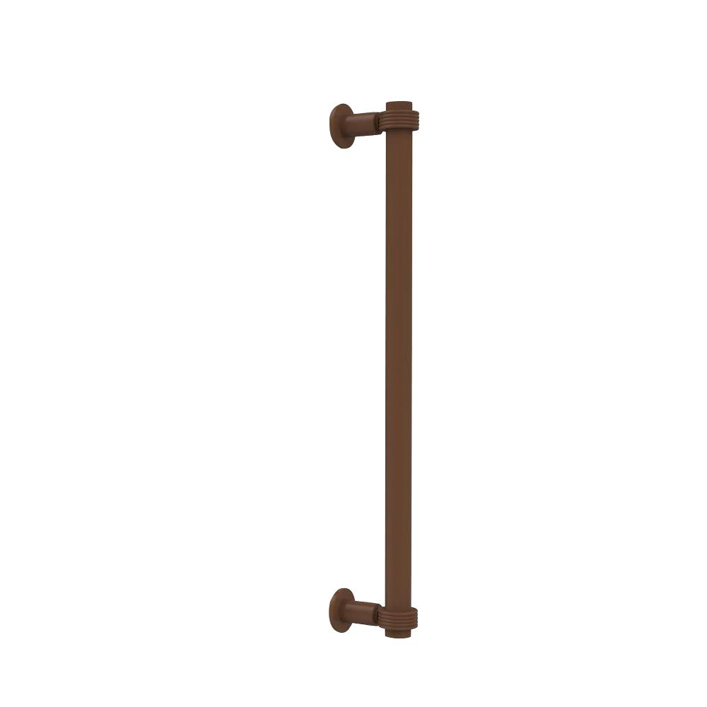 Allied Brass Contemporary 18 in. Back to Back Shower Door Pull in Antique Bronze