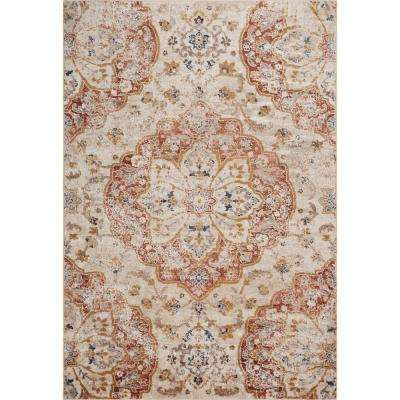 Manor Ivory 8 Ft X 10 Traditional Medallion Area Rug