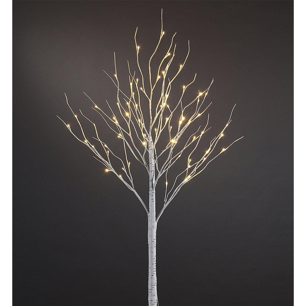 Proht 6 Ft 3 Watt Birch Tree With 72 Warm Led Lights