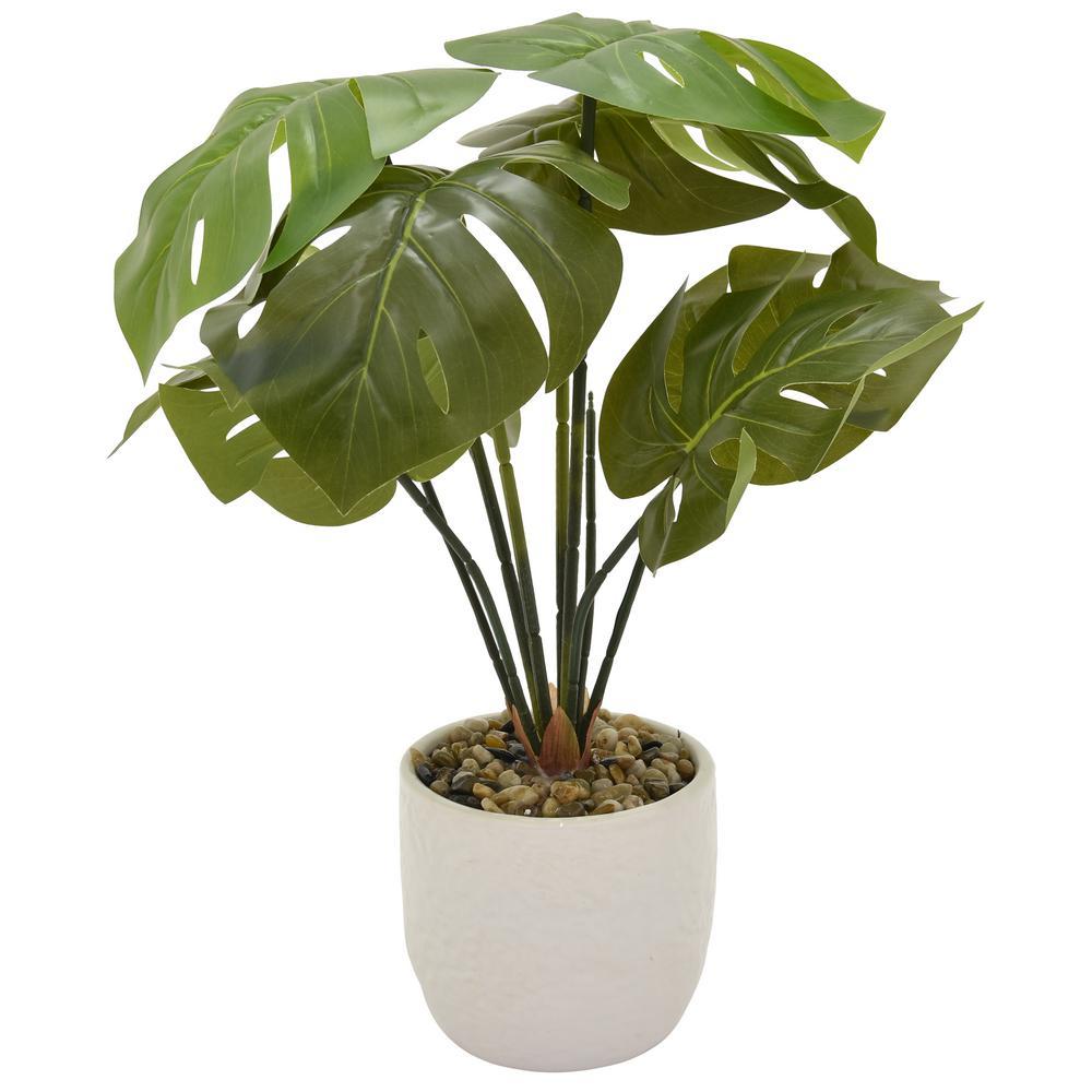 19 in. Faux Greenery in Flower Pot