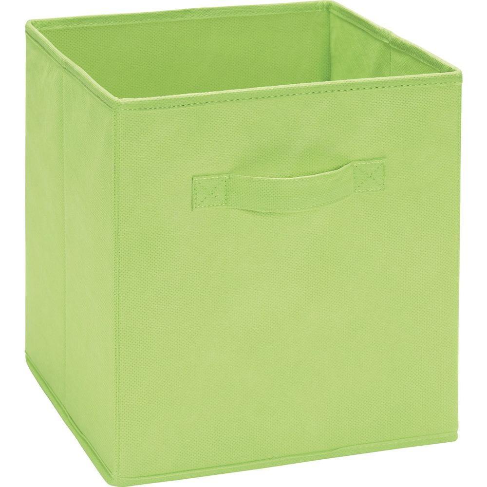 10.5 in. x 11 in. x 10.5 in. 5.25 Gal. Green Fabric Storage Bin