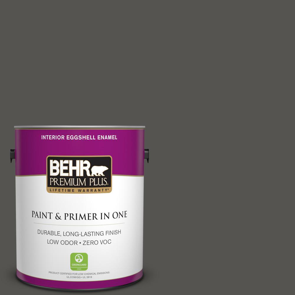 1-gal. #BXC-17 Dominant Gray Eggshell Enamel Interior Paint