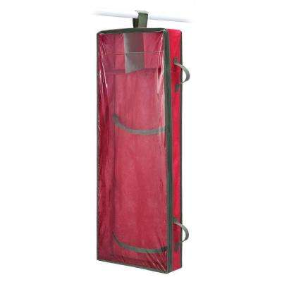 Christmas Storage Collection 14.5 in. x 43 in. Hanging Gift Wrap Organizer
