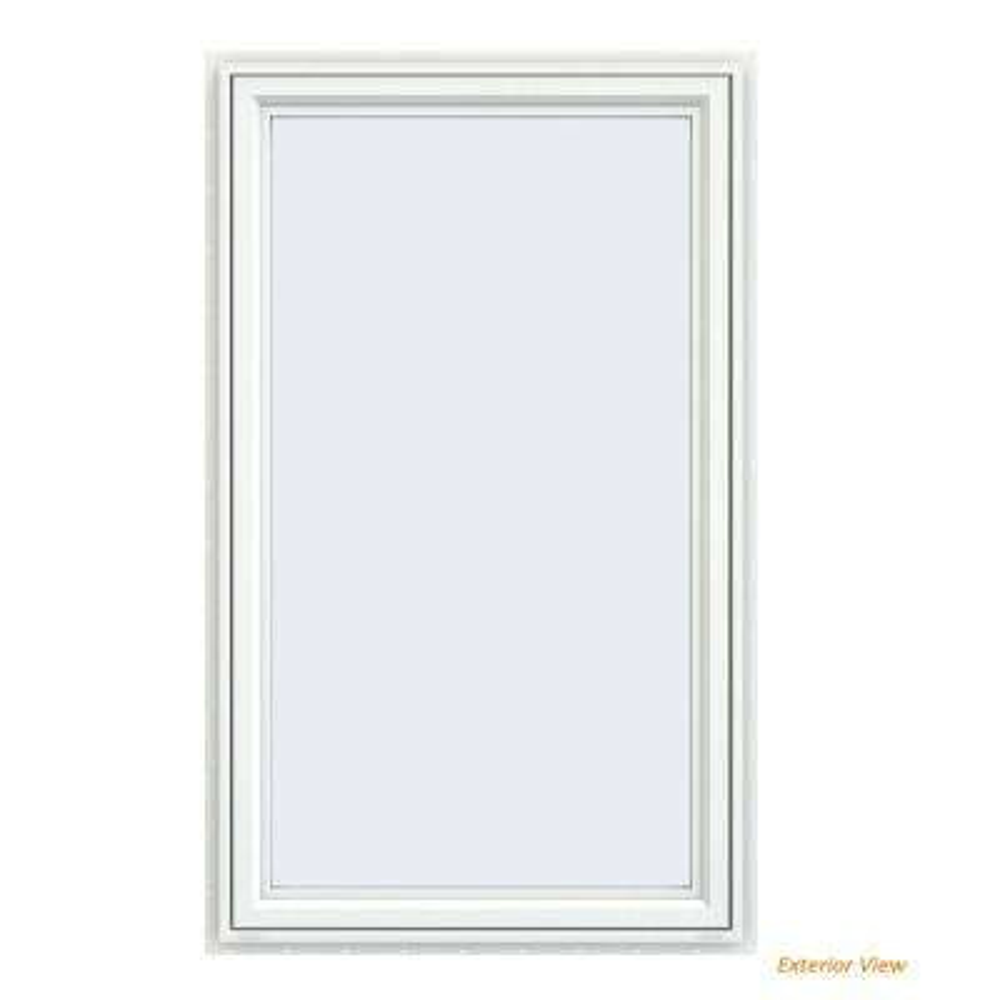 35.5 in. x 59.5 in. V-4500 Series White Vinyl Left-Handed Casement Window with Fiberglass Mesh Screen