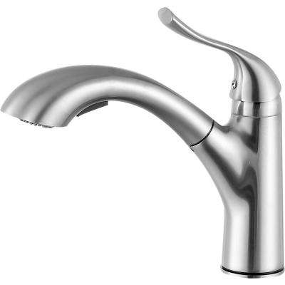 Di Piazza Single Handle Standard Kitchen Faucet in Brushed Nickel