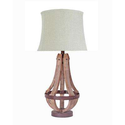 21 in. Brown Table Lamp