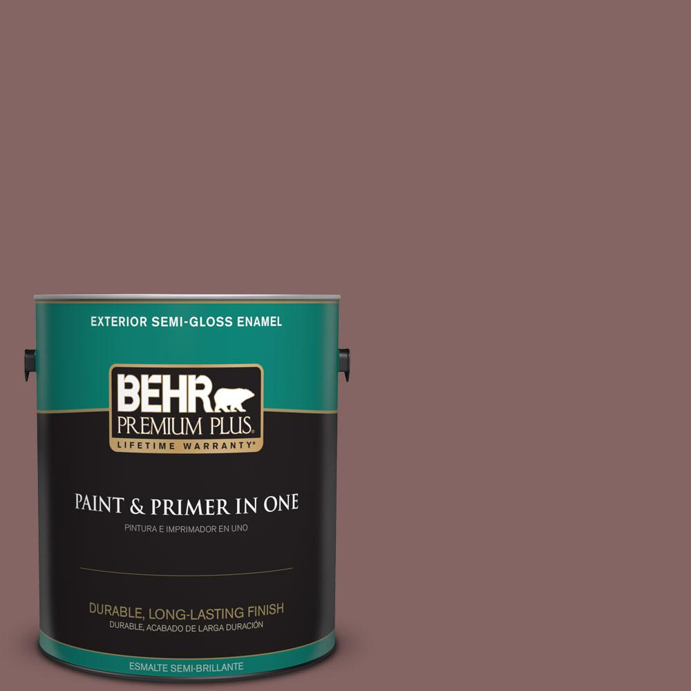 1-gal. #130F-6 Brazil Nut Semi-Gloss Enamel Exterior Paint