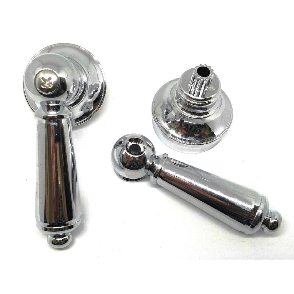 Universal Faucet Lever Handles, Chrome (2-Pack)