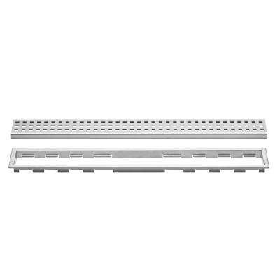 Kerdi-Line Brushed Stainless Steel 55-1/8 in. Perforated Grate Assembly with 3/4 in. Frame
