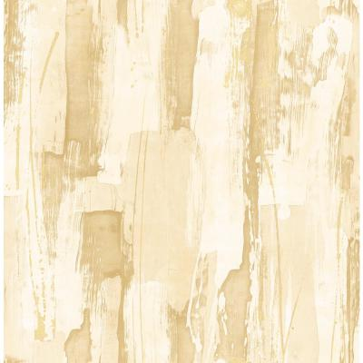Kemper Metallic Gold and Off-White Abstract Wallpaper