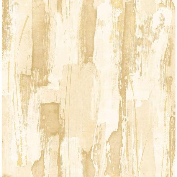 Seabrook Designs Kemper Metallic Gold And Off-White