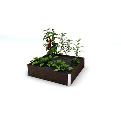 Urbana 48 in. x 48 in. x 11 in. Espresso Brown Vinyl Raised Garden