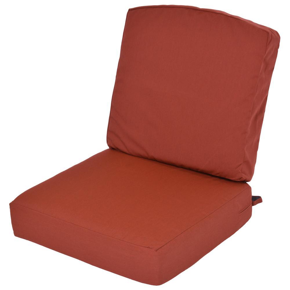 Oak Cliff 24.5 x 25 Outdoor Lounge Chair Cushion in Sunbrella Canvas Henna