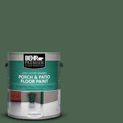 1 gal. #S410-7 Equestrian Green Low-Lustre Porch and Patio Floor Paint