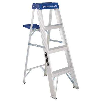 4 ft. Aluminum Step Ladder with 250 lbs. Load Capacity Type I Duty Rating