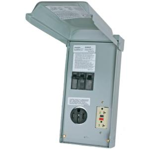 Midwest R038C010 100 Amp Metered Temporary Power Outlet Box