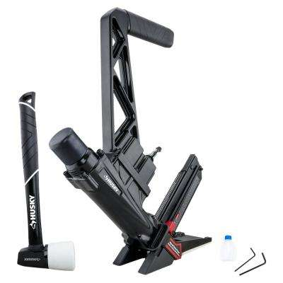 Pneumatic 3-in-1 15.5-Gauge and 16-Gauge 2 in. Flooring Nailer and Stapler with Quick Jam Release