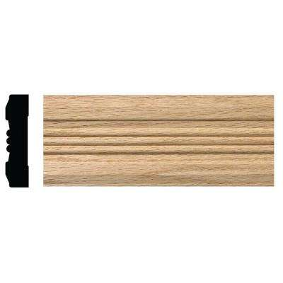 OML18 3/4 in. x 3 in. x 84 in. Red Oak Victorian Casing Moulding