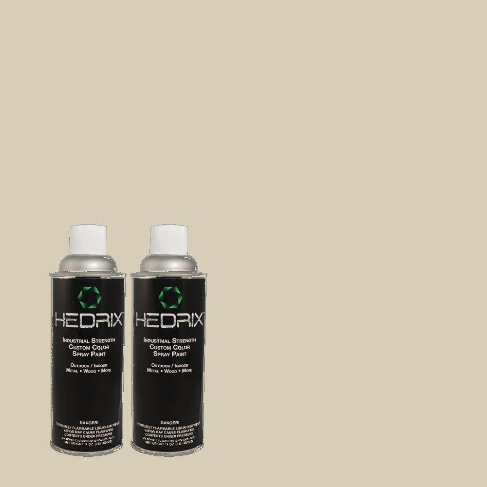 Hedrix 11 oz. Match of MQ6-31 Shoreline Haze Flat Custom Spray Paint (2-Pack)