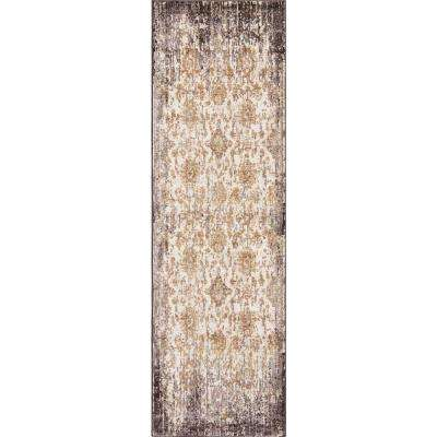Manor Ivory/Taupe 2 ft. x 8 ft. Empire Runner Rug