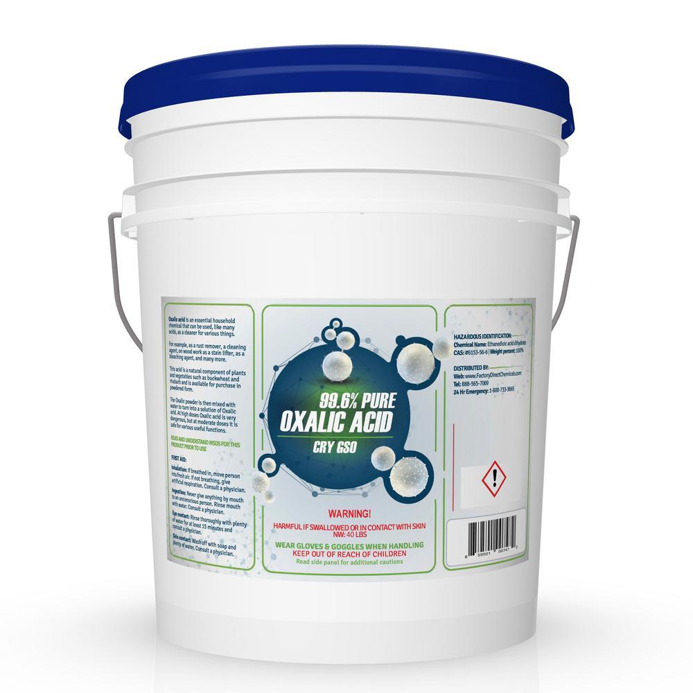 40 Lbs 99 6 Pure Oxalic Acid Powder Pail Eco Clean