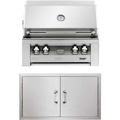 30 in. Built-In Natural Gas Grill in Stainless with Double Access Doors