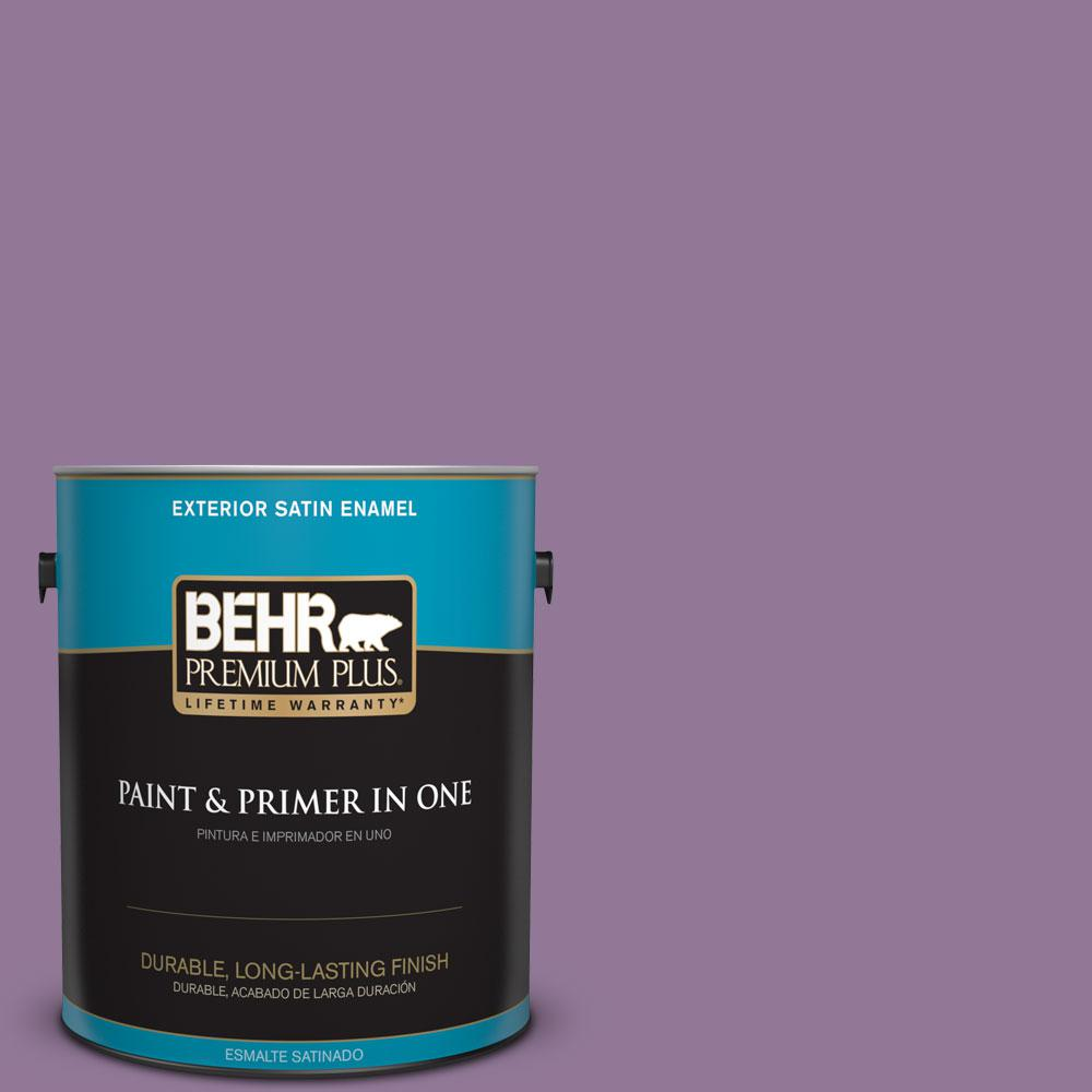 BEHR Premium Plus 1-gal. #M100-5 Passion Fruit Satin Enamel Exterior Paint
