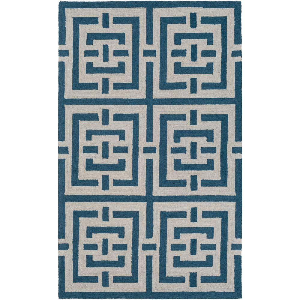 Impression Libby Blue 4 ft. x 6 ft. Indoor Area Rug