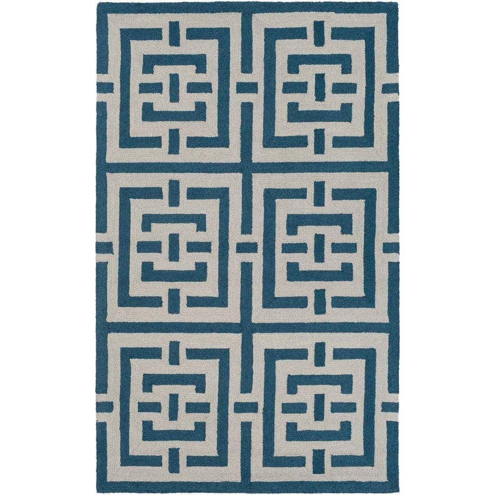 Impression Libby Blue 5 ft. x 8 ft. Indoor Area Rug
