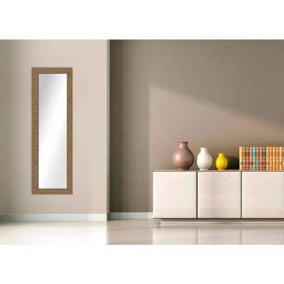 51.5 in. x 15.5 in. Gold Framed Mirror