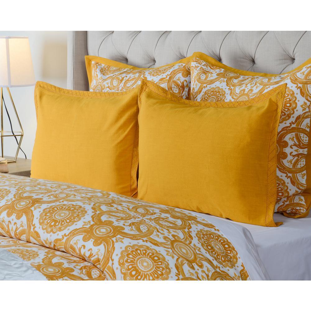 Resort Mango Cotton 26 in. x 26 in. Euro Sham