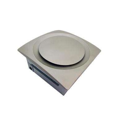 Slim Fit 90 CFM Energy Star Bathroom Exhaust Fan Ceiling or Wall Mount with Satin Nickel Grille