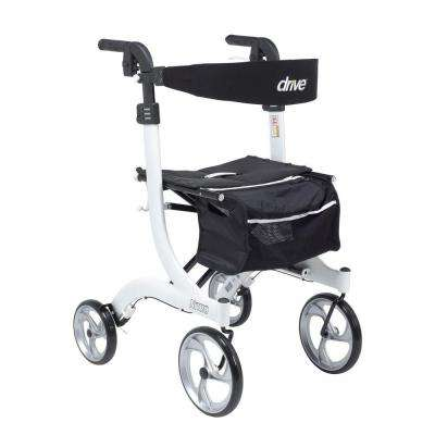 Nitro Euro Style Walker Rollator - Tall in White