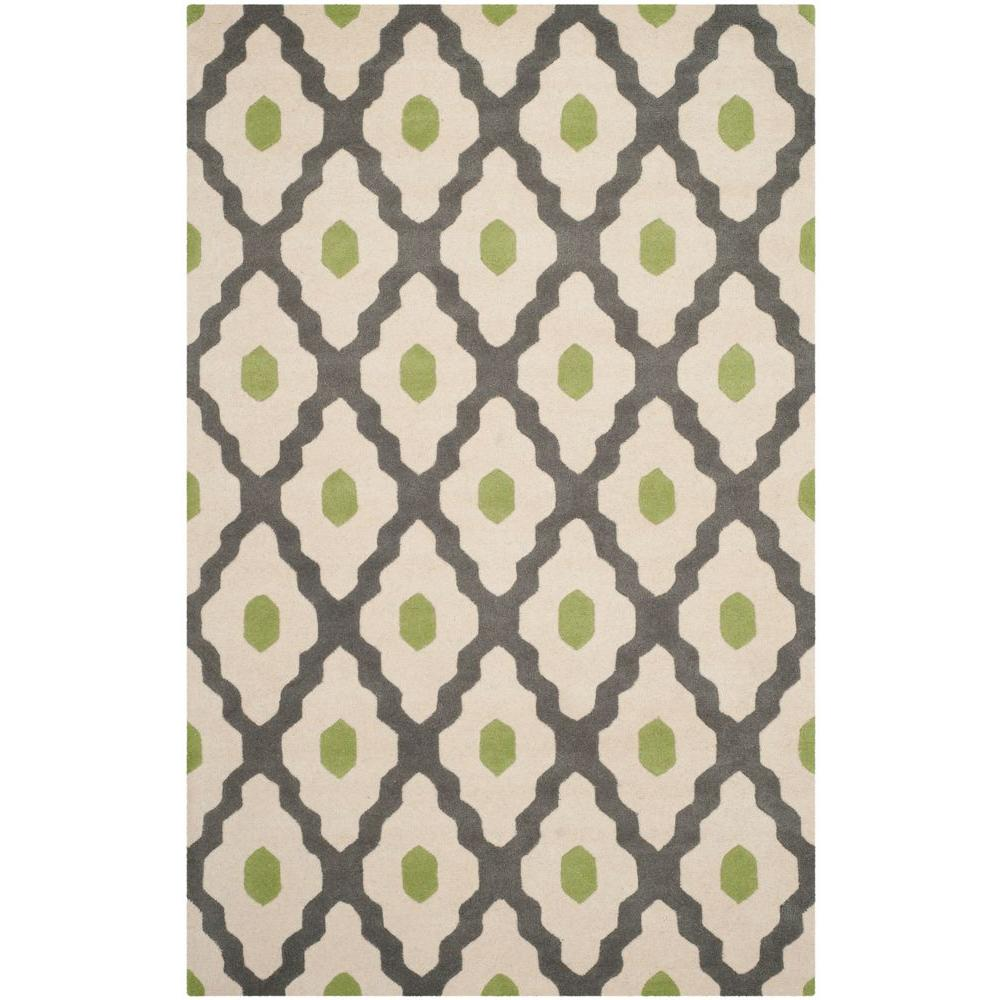 Chatham Dark Grey/Ivory 4 ft. x 6 ft. Area Rug