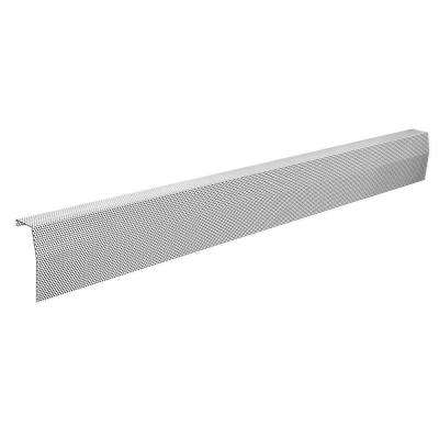 Premium Series 7 ft. Galvanized Steel Easy Slip-On Baseboard Heater Cover in White