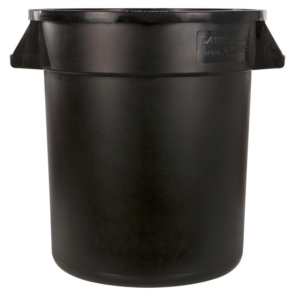 Bronco 55 Gal. Black Round Trash Can (2-Pack)