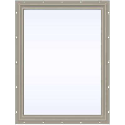 35.5 in. x 47.5 in. V-2500 Series Fixed Picture Vinyl Window - Tan