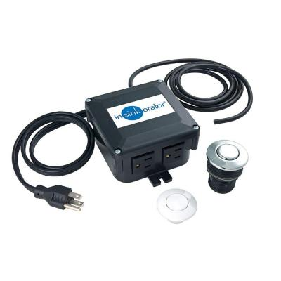 Dual Outlet SinkTop Switch Kit for InSinkErator Garbage Disposals and Hot Water Dispensers