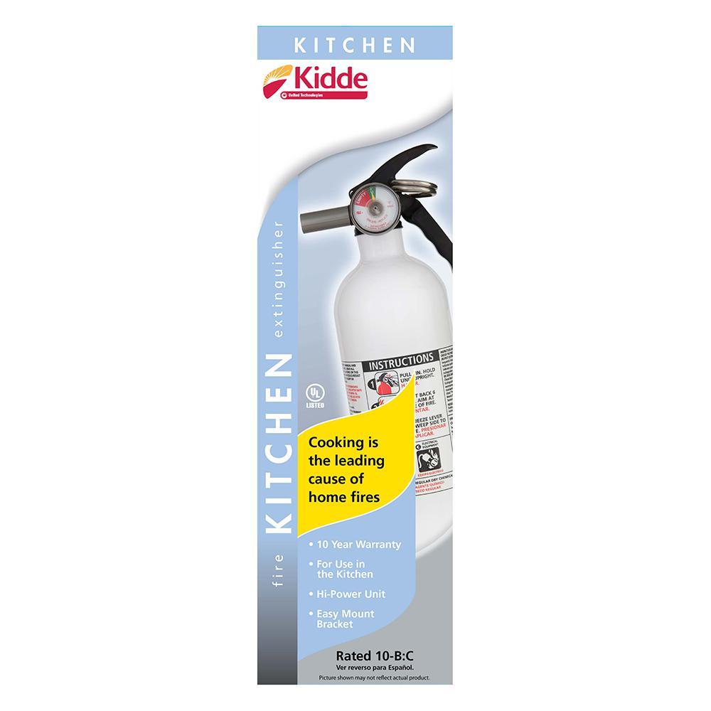 Kidde Kitchen Fire Extinguisher: HOME KITCHEN FIRE EXTINGUISHER 10-B:C Auto Marine Fire