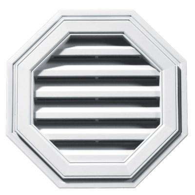 18 in. Octagon Gable Vent #001 White