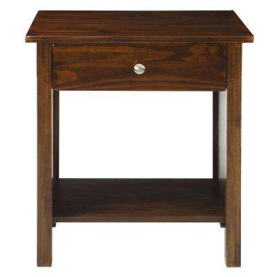 Vanderbilt Warm Brown Nightstand with USB Port