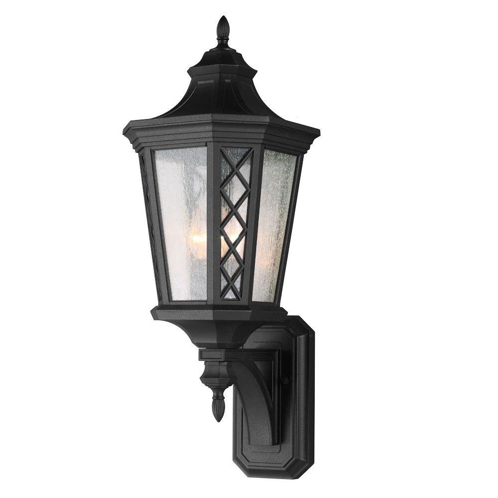 Feiss Wembley Park 3-Light Textured Black Outdoor Wall Lantern