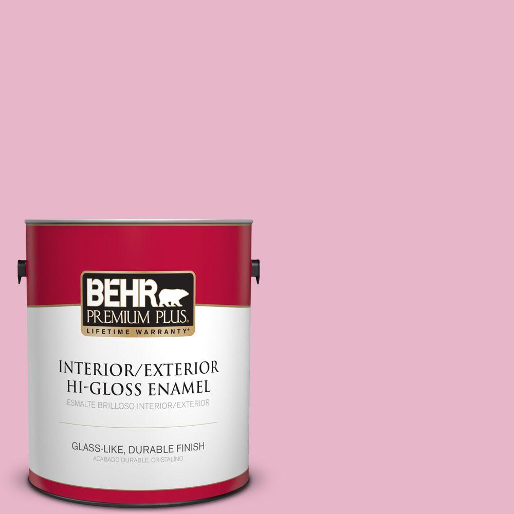 1 gal. #HDC-SP16-10 Japanese Rose Garden Hi-Gloss Enamel Interior/Exterior Paint